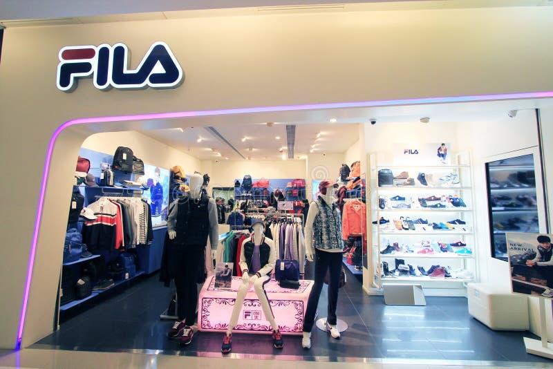 Fila shop in hong kong. Fila shop, located in K11 Mall, Tsim Sha Tusi, Hong Kong. fila is a clothes retailer in Hong Kong royalty free stock image