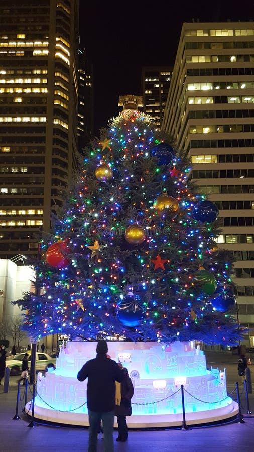 Filadelfia bożych narodzeń targowy drzewo zdjęcie royalty free