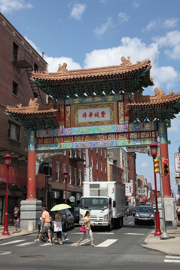 Filadelfia Chiny miasteczko obrazy stock