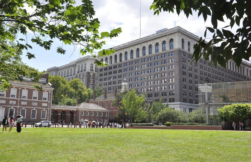 Filadelfia, il 4 agosto: Parco nazionale di indipendenza da Filadelfia in Pensilvania fotografia stock