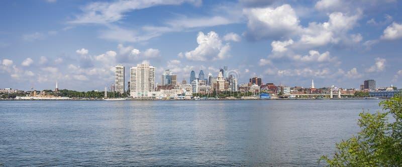 Filadelfia linii horyzontu panorama zdjęcie stock