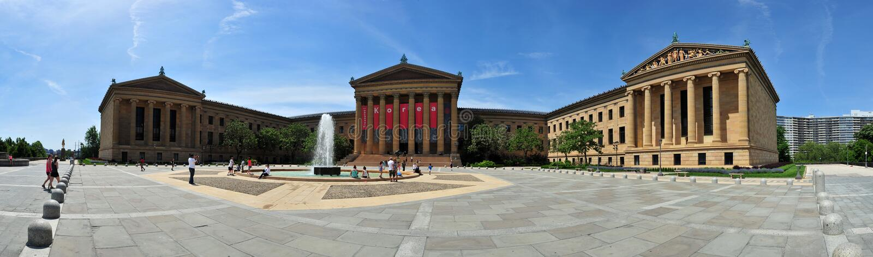 Filadelfia muzeum sztuki panorama fotografia royalty free