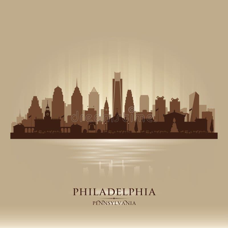 Filadelfia Pennsylwania miasta linii horyzontu sylwetka ilustracja wektor