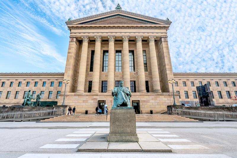 Filadelfia, Pennsylwania, usa prezes sądu Stany Zjednoczone John Marshall William Wetmore opowieścią, przy - Grudzień, 2018 - obraz royalty free