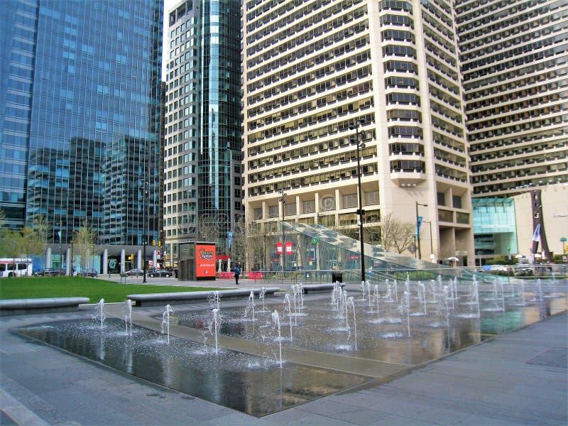 Filadelfia ` s Dilworth park z fontanną zdjęcie stock