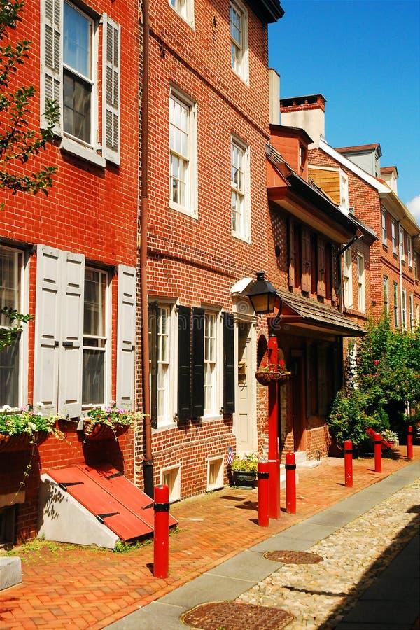 Filadelfia, vicolo del ` s di Elfreth fotografia stock libera da diritti