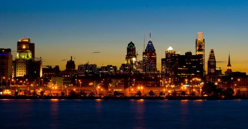 Filadelfii panoramiczny słońca zdjęcie stock