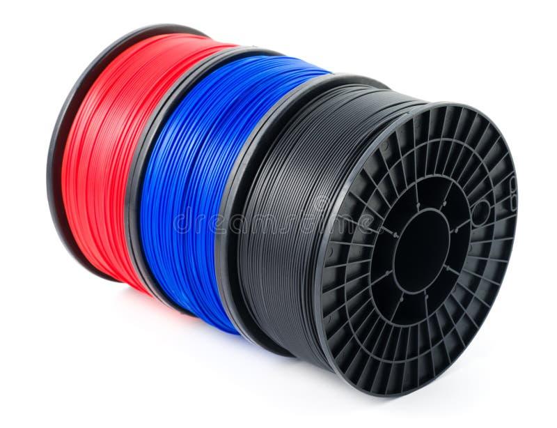 Filament 3d printer stock photos