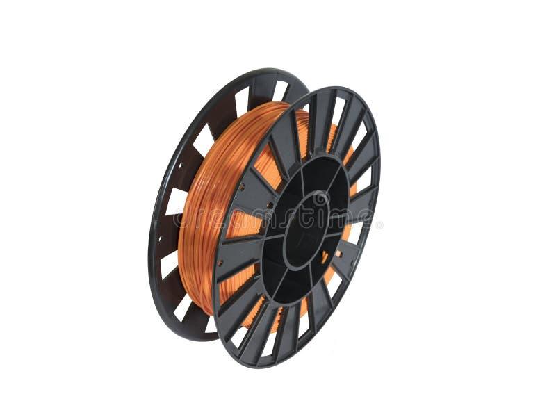 Filament for 3D printing stock photos