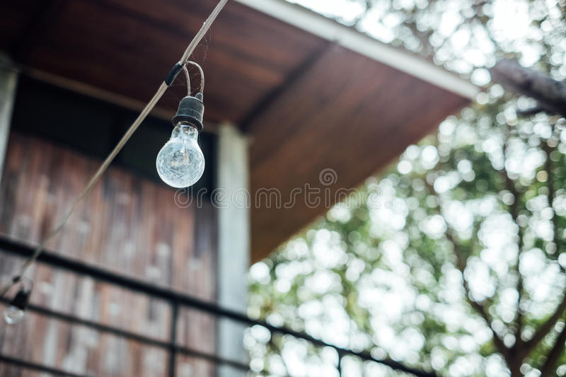 Filament off blur background stock image