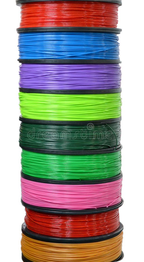 Filament wire for 3D printer royalty free stock image