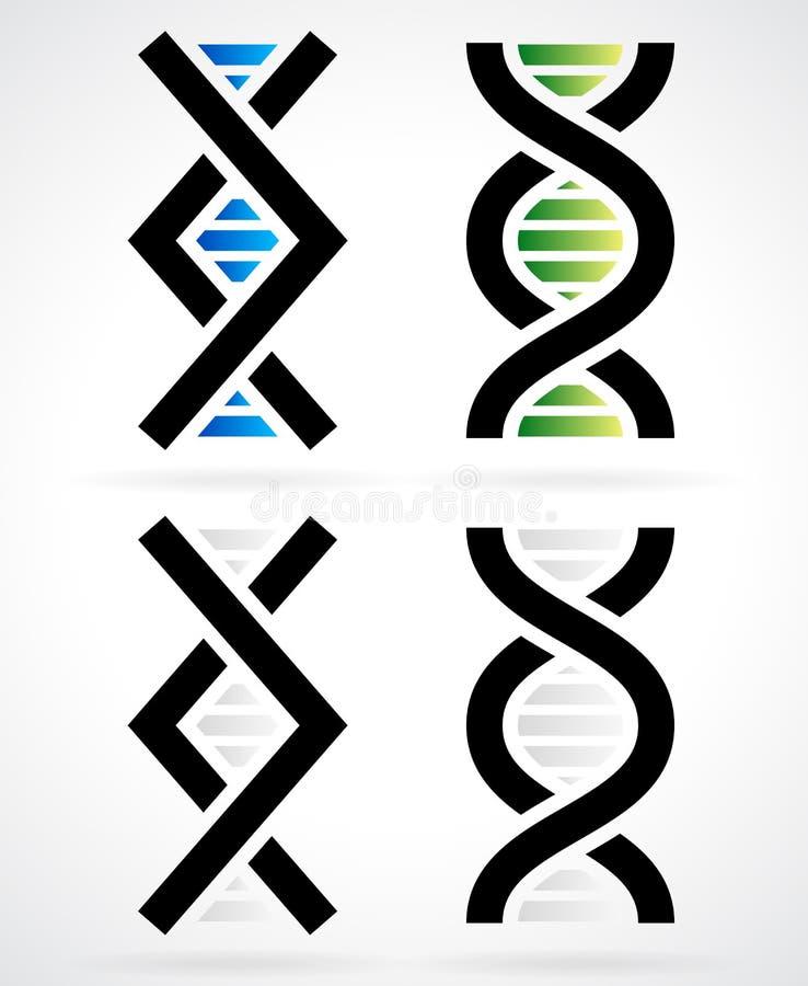 Filamento de la DNA, hélice stock de ilustración