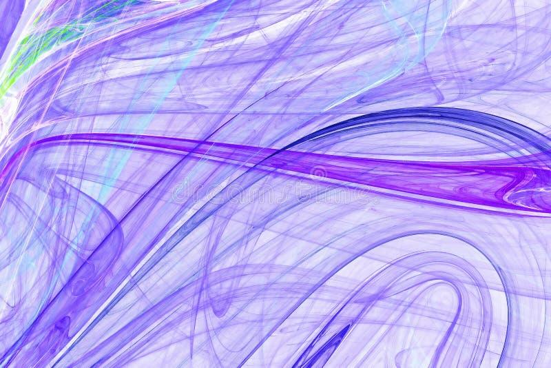 Filamentos coloridos - projeto abstrato ilustração do vetor