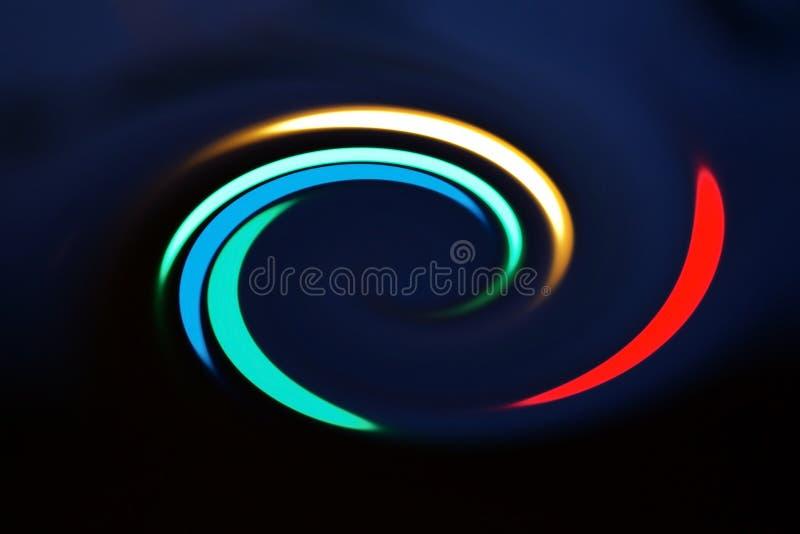 Filando e spettro di colori di rotazione usato per il concetto del fondo o di logo fotografie stock