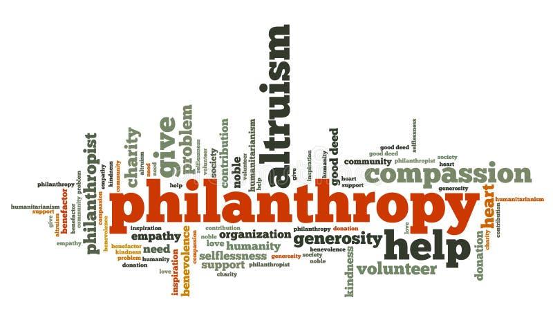 filantropi stock illustrationer