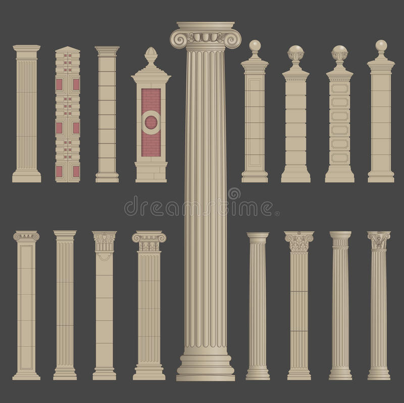 Filar szpaltowa rzymska grecka architektura ilustracja wektor