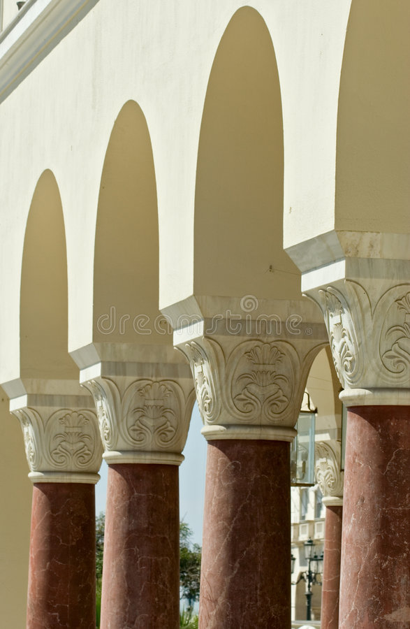 filary starożytnych greków obrazy royalty free