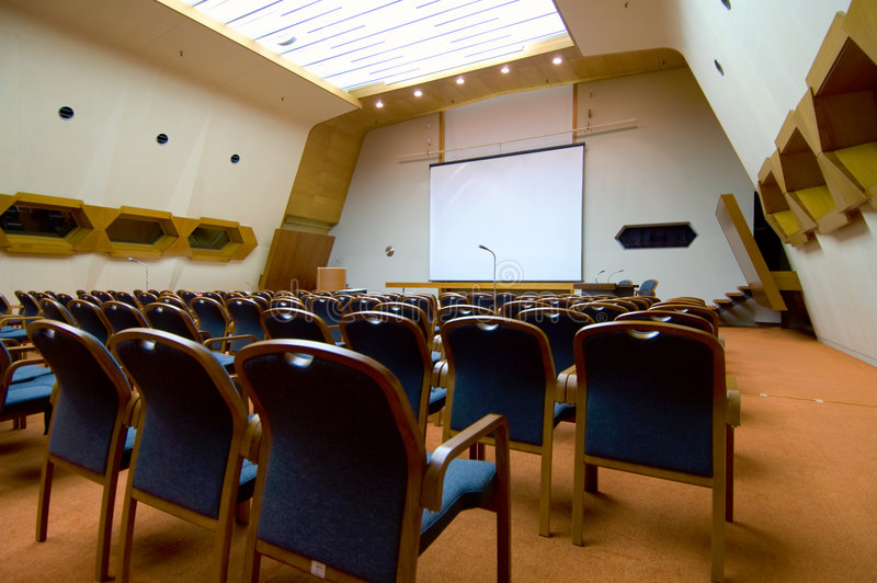 Filas de asientos fotografía de archivo libre de regalías