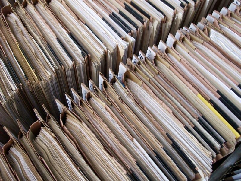 Filas de ficheros foto de archivo