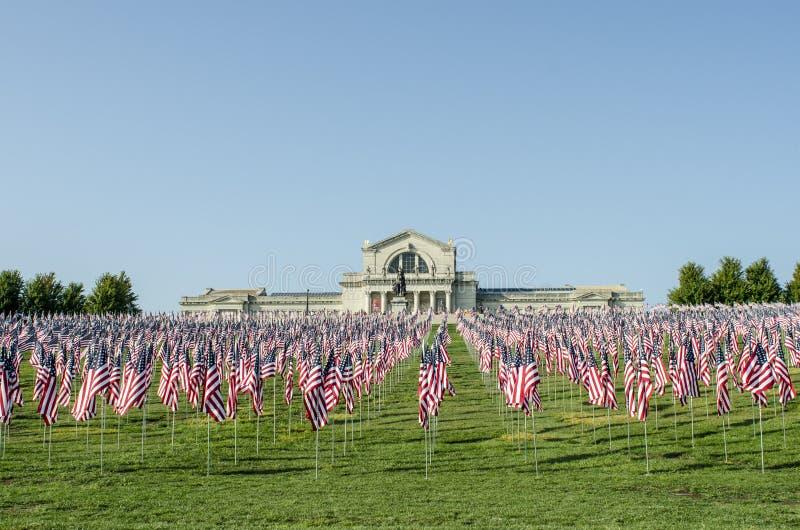 Filas de indicadores americanos fotos de archivo libres de regalías