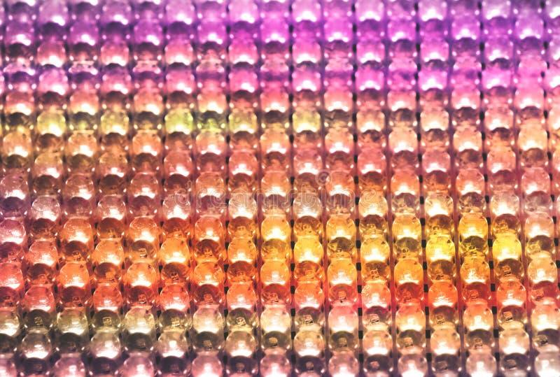 Filas de las bombillas coloridas del LED fotografía de archivo libre de regalías