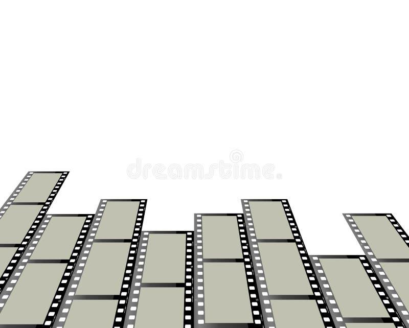 Filas de las tiras de la película ilustración del vector