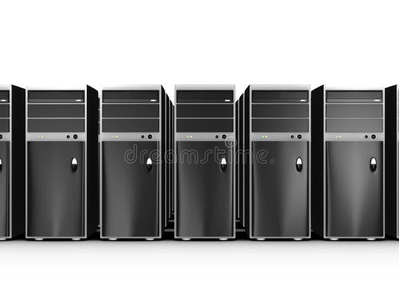 Filas de ordenadores stock de ilustración