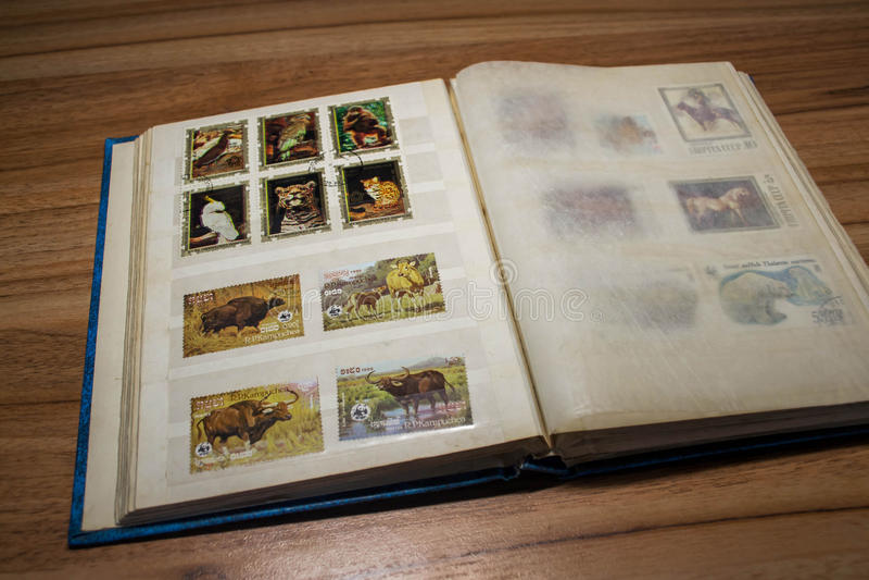 Filatelia 4 fotografía de archivo