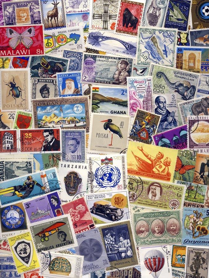 Filatelia - selos postais do mundo imagens de stock royalty free