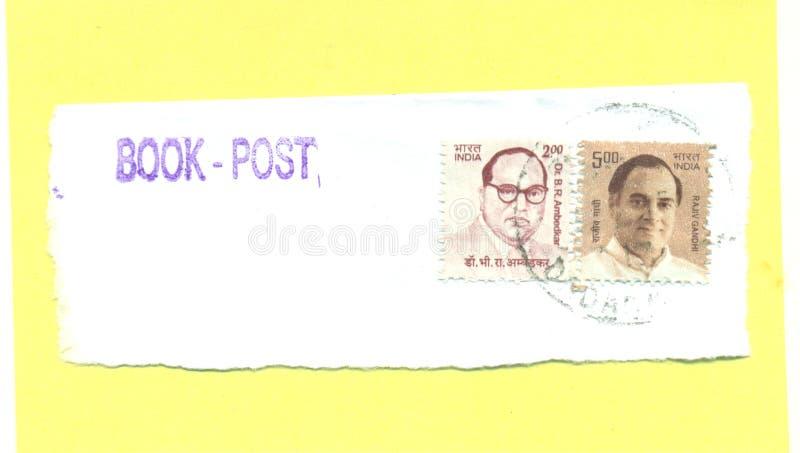 Filatelistische Postzegel van Ambedakar en Rajiv Gandhi vector illustratie
