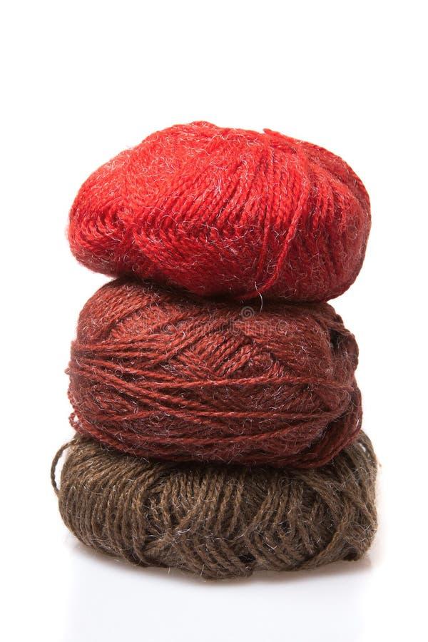 Filato di lana fotografia stock libera da diritti