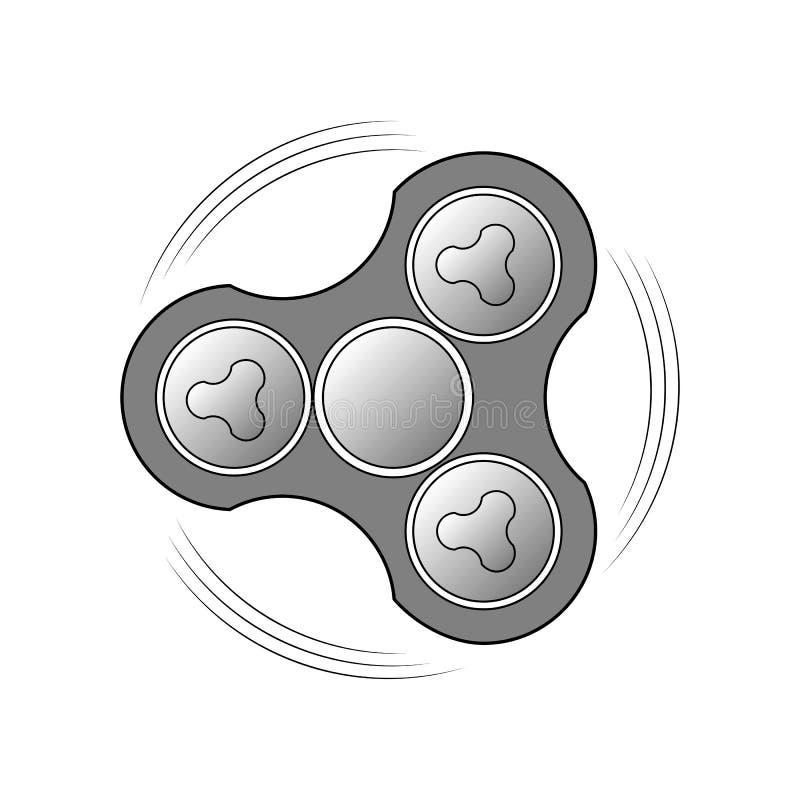 Filatore della mano Immagine di vettore di un prodotto girante Logo per l'applicazione mobile, progettazione del sito Web illustrazione di stock