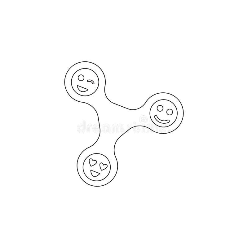 Filatore di irrequietezza con l'icona dei fronti Icona dell'elemento del giocattolo Icona premio di progettazione grafica di qual royalty illustrazione gratis