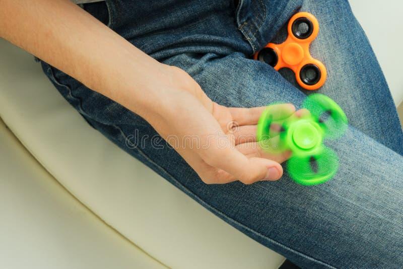 Filatore di irrequietezza, giocattolo di rilassamento popolare, progettazione generica fotografie stock