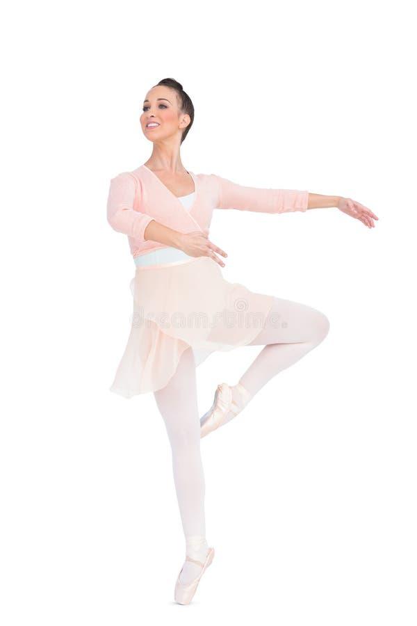 Filatura attraente sorridente della ballerina immagine stock libera da diritti
