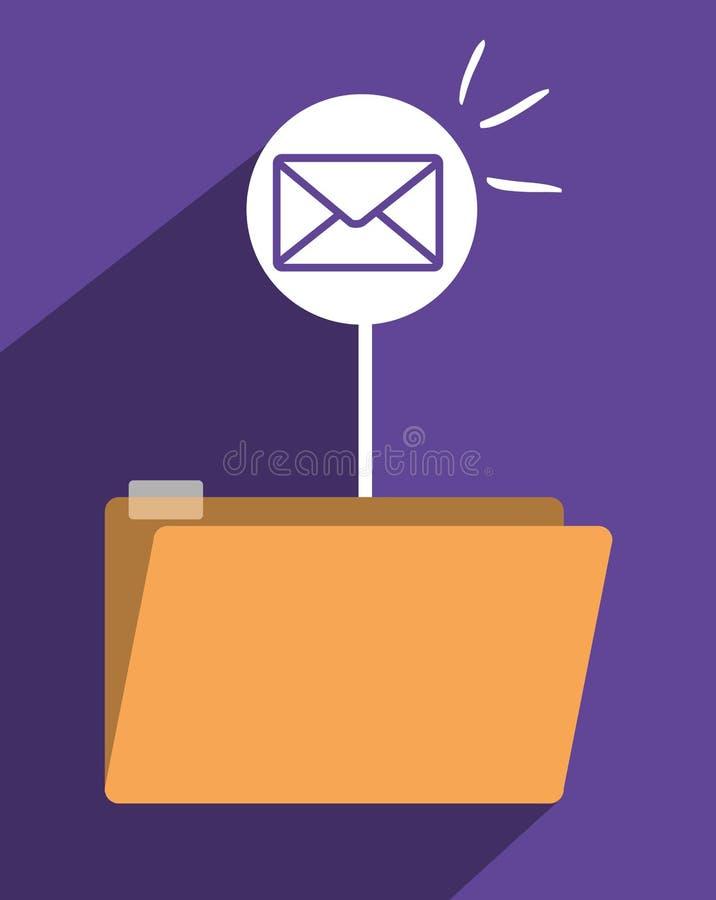 File archive icon symbol design royalty free illustration