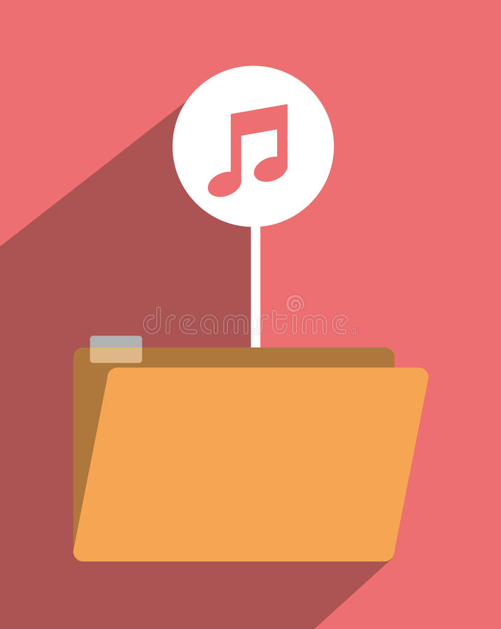 File archive icon symbol design royalty free illustration