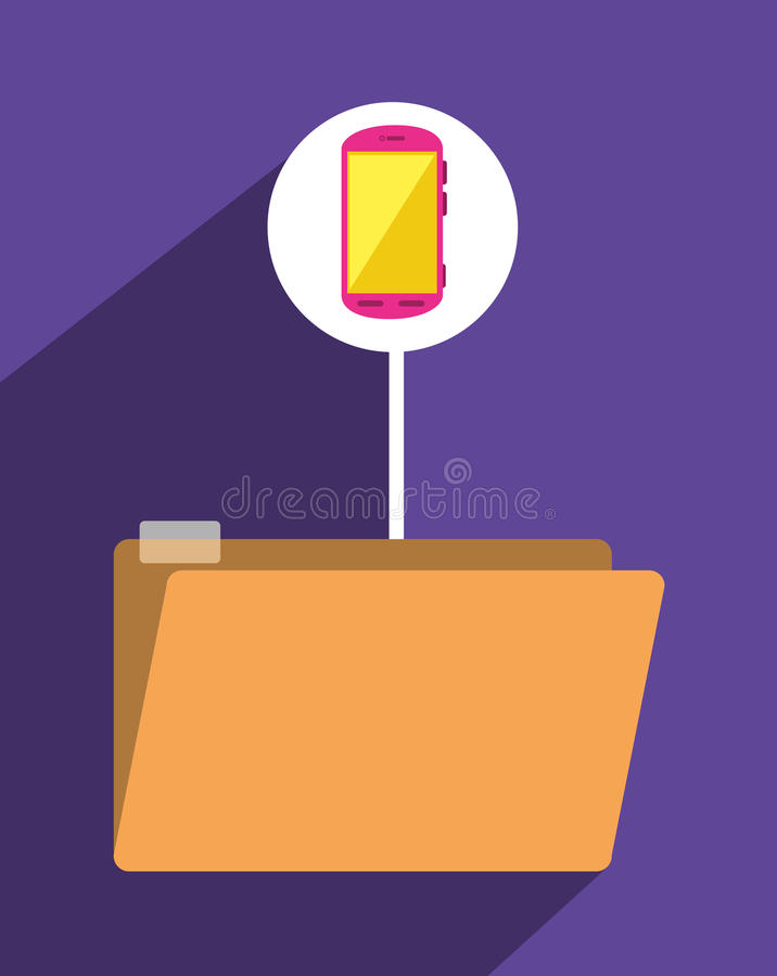 File archive icon symbol design stock illustration