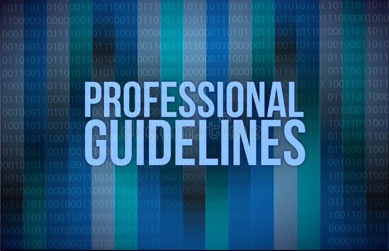 File binario professionale di concetto delle linee guida royalty illustrazione gratis