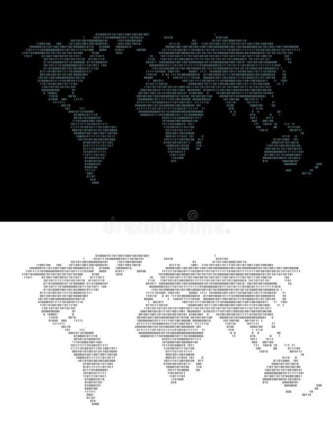 File binario uno della mappa royalty illustrazione gratis