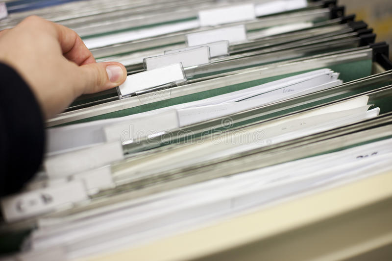File cabinet royalty free stock photo