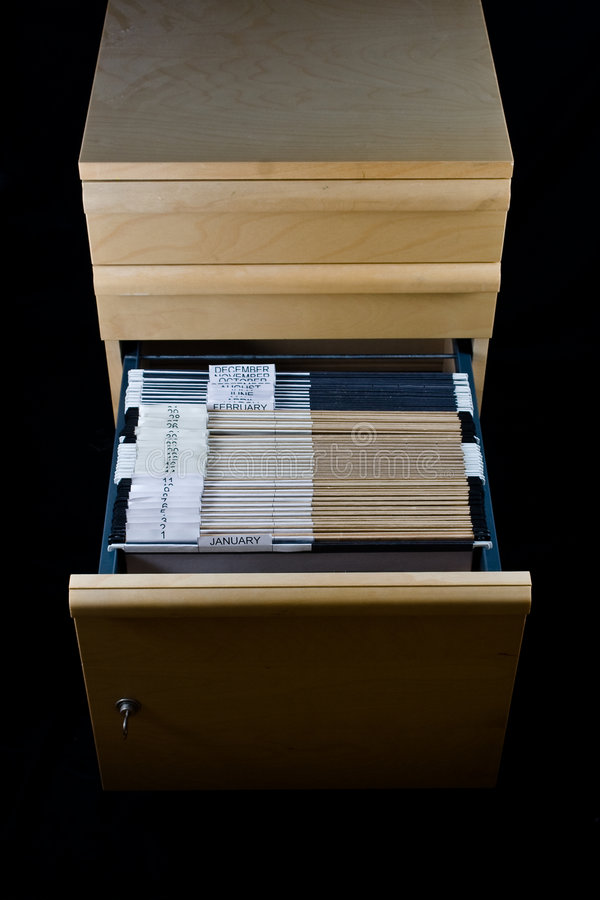 Download File Cabinet And 43 Folders Stock Image - Image: 4262729