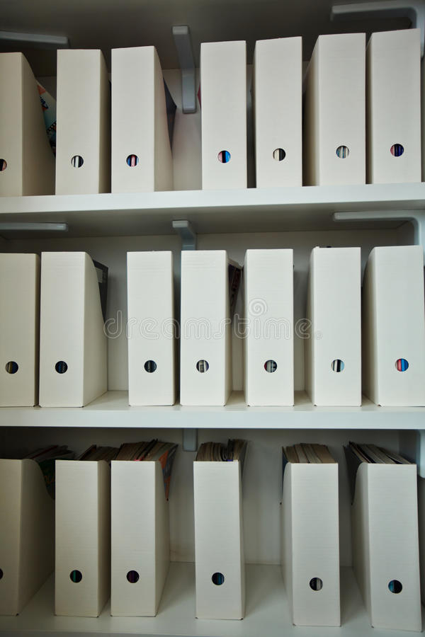 File Cabinet in Office stock image