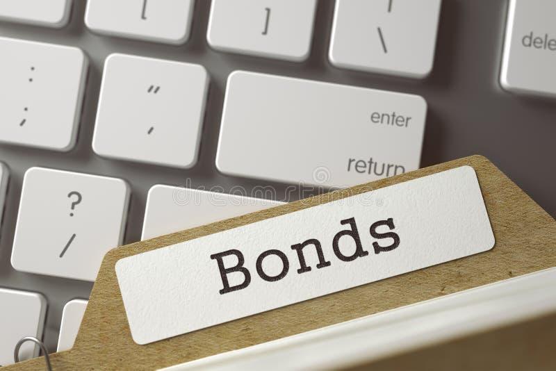 File Card Bonds. 3D. stock photography