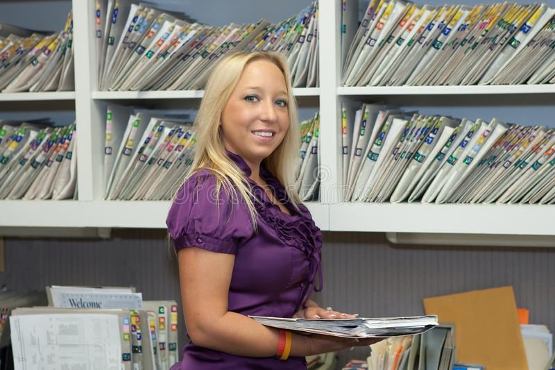 File clerk stock photography