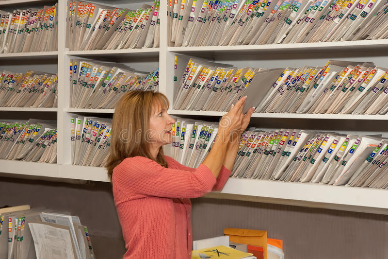 File clerk royalty free stock photo
