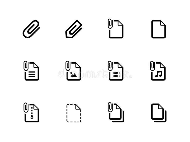 Download File Clip Icons On White Background. Stock Photo - Image: 33444810