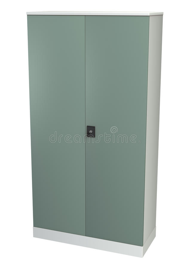 File Cupboard. 3D digital render of a file cupboard isolated on white background vector illustration