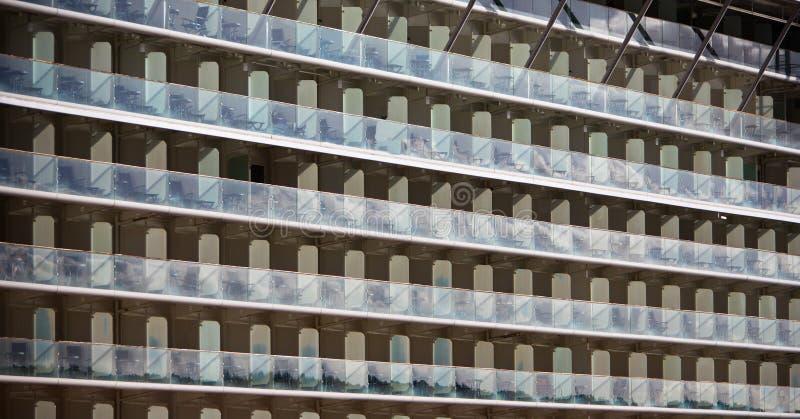 File dei balconi immagini stock libere da diritti