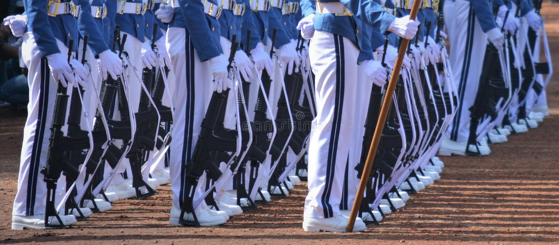 File delle truppe cerimoniali fotografia stock